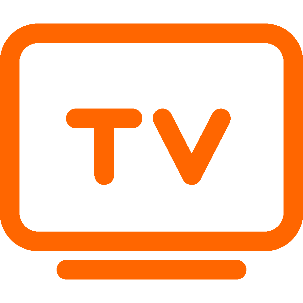 tv icon orange