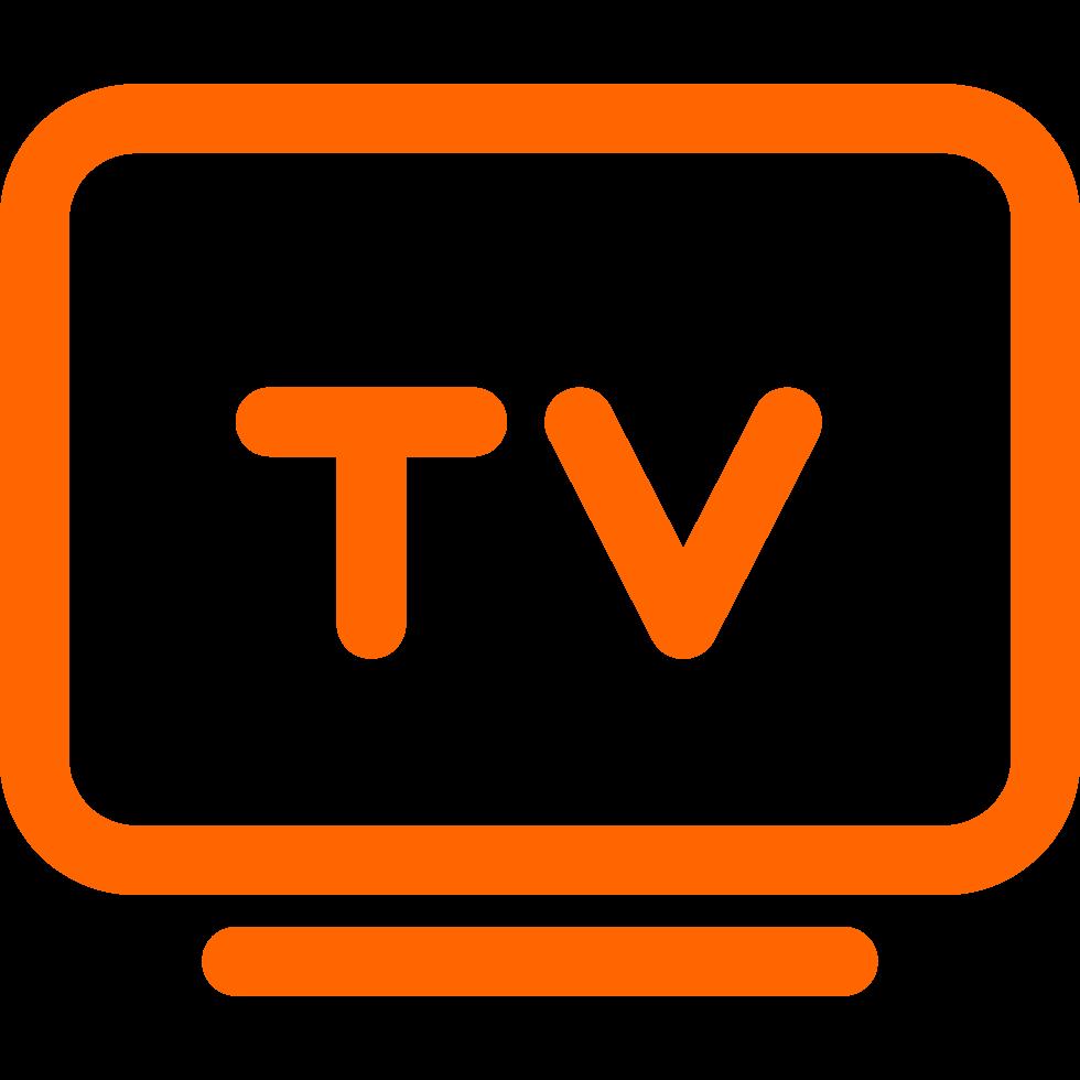 tv icon orange